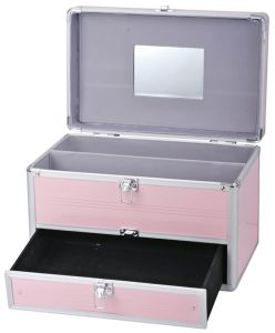 Pink Aluminum Case Cosmetic Makeup Case pictures & photos