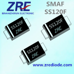 1A Ss12f Thru Ss120f Schottky Barrier Rectifier Diode Smaf Package pictures & photos