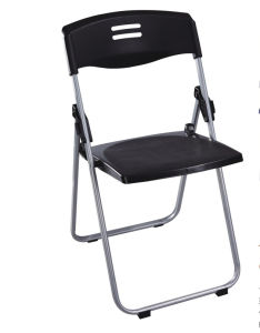 Popular Plastic Folding Dining Chair with Metal Frame