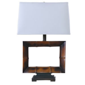 Antique Natural Bamboo Table Lamp With Wood Base For Hotel Decor