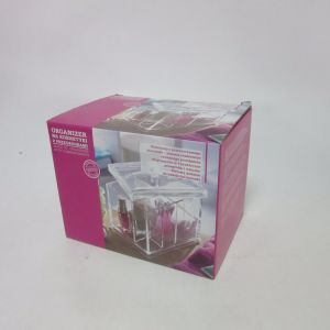 PS Jewellery and Make-up Organiser Box with 4 Practical Compartments and Lid