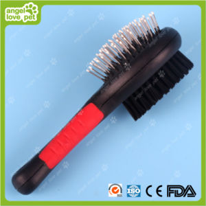 Plastic Handle Steel Pins Pet Brush pictures & photos
