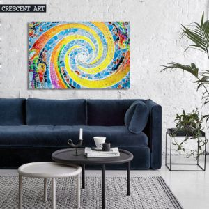 Modern Wall Decor Colorful Spiral Canvas Painting