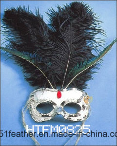 Muliti-Color Amazing Personal Decoration Party Turkey/Ostrich Feather Mask pictures & photos