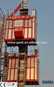 Double-Cage High Rise Passenger and Material Building Elevator \ Construction Lifter pictures & photos
