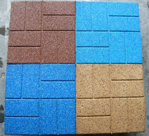 Top-Brick EPDM Rubber Tile for Sidewalks / Carpet (A-DJ-34) pictures & photos