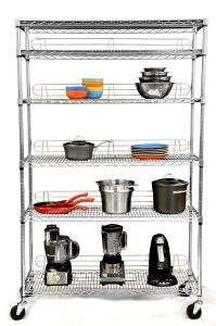 Industrial Metal Storage Wire Shelving with Casters pictures & photos