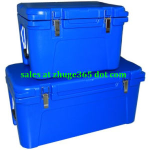65litre Blue Tan Durable Plastic Coolers for Fishing Hunting