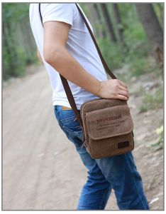 Leather Cross Body Travel Shoulder Messenger Mens Bag For Business Work 10 Inch