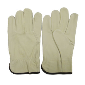 10 x Click 2000 Drivers Work Premium Leather Gloves Adjustable Cuff Mens