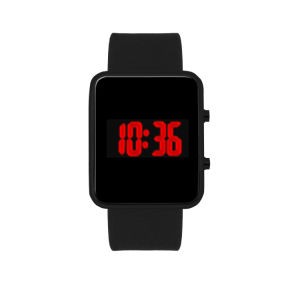 Fashinable Apple Style Silicone Digital Wrist Watch LED for Promotion (JY-SI028)