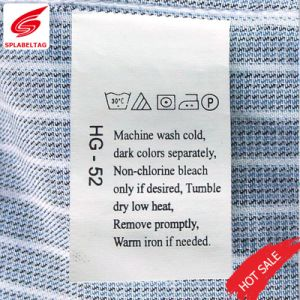 Custom Printed Clear Wash Care Labels