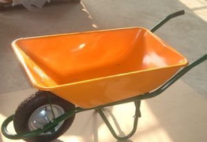 Yellow Garden Cart with Rubber Wheels Yard Trolley Wb6401