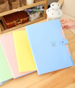Wholesale and New Design Fashion&Nice Smiling PVC Clip File Folder Made in China 2014