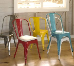 Vingage Industrial Antique Durable Colorful Metal Tolix Chair, Coffee Shop Chair, Bar Stools (AT-3534)