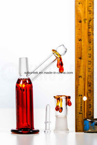 Glass Pipe Smoking Bubber Amber Drip Pocket Sidecar Oil Rig pictures & photos