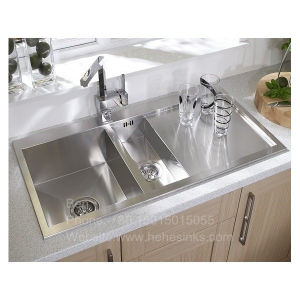 Square Handmade Sink with Drain Board, Kitchen Sink, Sink pictures & photos
