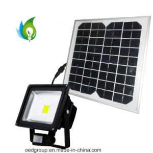 30W PIR Sensor LED Flood Light with Solar Power pictures & photos