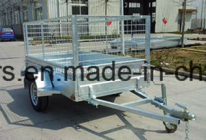 Single Axle Hot DIP Galvanized Box Trailer (tr0303) pictures & photos