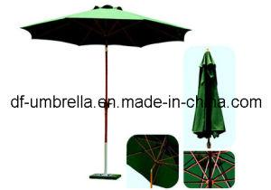 China Outdoor Wooden Patio Umbrella