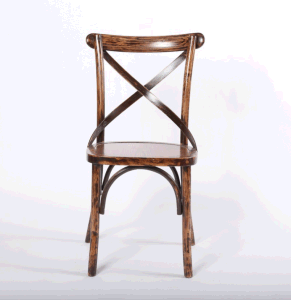 Oak Wood Antique Color Cross Back Chair for Restaurant pictures & photos