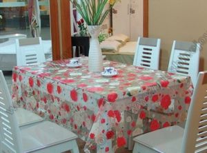 PVC Table Cover, Flower Design pictures & photos