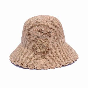 Wholesale Fashion Wide Brim Weaving Straw Hat for Summer (GK01-Q0111) pictures & photos