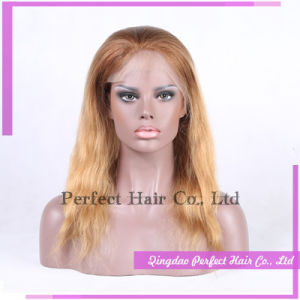 Full Front Blonde Human Hair Lace Front Wig pictures & photos