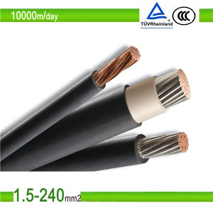 0.6/1kv Tinned Copper Wire Xlpo Insulated Photovoltaic Cable pictures & photos