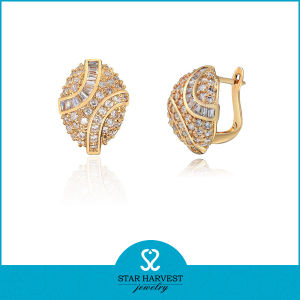 Imitate Round Clip On 24 Carat Gold Earrings