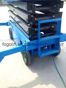 18m Hydraulic Mobile Scissor Lift Aerial Work Platform pictures & photos