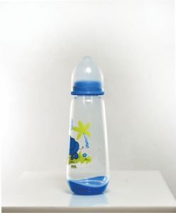 9 Ounce Transparent Baby Milk Bottles for Infant Breastfeeding