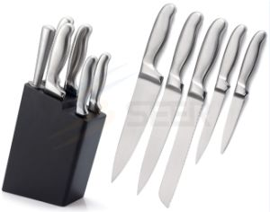 5 Piece Stainless Steel Hollow Handle Kitchen Knife Set (SE-A24) pictures & photos