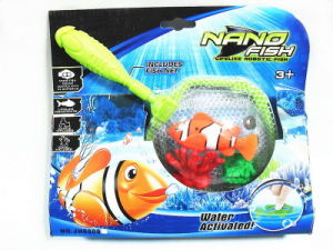 Battery Operated Nano Fish + 2 Coral + Net Handle