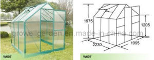 Polycarbonate Panel and Aluminium Hobby Greenhouse (W607) pictures & photos