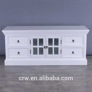 Wh-4034 Living Room Furniture White Morden TV Cabinet pictures & photos