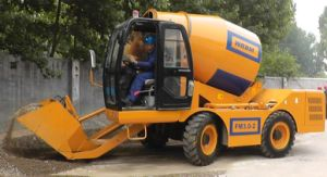 Pump Diesel 4X4 Mobile Mini Concrete Mixing Truck pictures & photos
