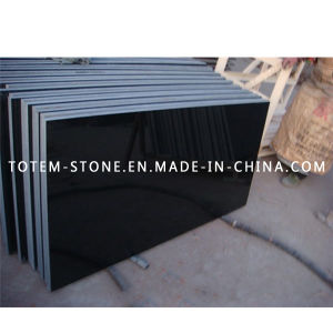 Polished Shanxi Black Granite Stone Tile for Flooring and Paving