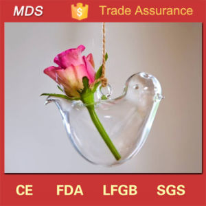 Bird Shaped Haning Bulk Custom Made Glass Vases with Flowers pictures & photos