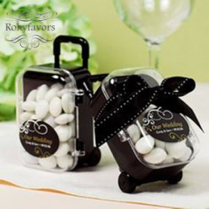 Classy Mini Rolling Travel Suitcase Favors Boxes