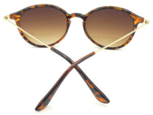 F17241 Italy Design Round Frame Sunglass, Metal Temple Sun Glasses pictures & photos