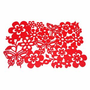 3mm & 5mm Spring Season 100% Felt Placemat for Tabletop & Decorations