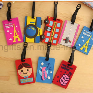 Round OEM Soft PVC Rubber Luggage Tag (LT054) pictures & photos