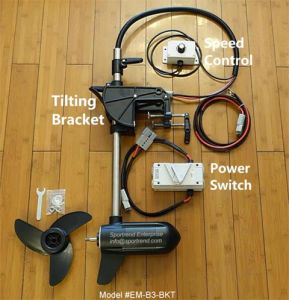 Brushless Electric Thruster Trolling Motor with Speed Controller for Kayak or Sailboat DIY 12V/24V