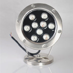 Fountain 12X3w RGB Full Color Marine LED Pool Light, High Quality IP68 Stainless Steel LED Underwater Light (HL-PL09) pictures & photos