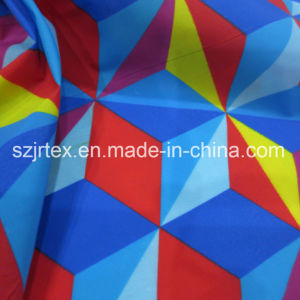 Semi-Dull Nylon Taffeta Fabric with Digital Printing for Down Jacket, Waterproof
