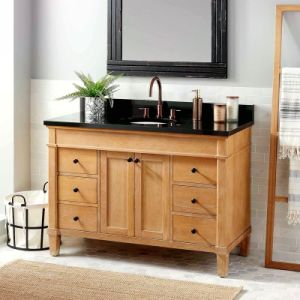 China 48 Frank Solid Wood Small Bathroom Vanity Storage With Sink China Buy Solid Wood Bathroom Vanity With Sink Bathroom Vanity