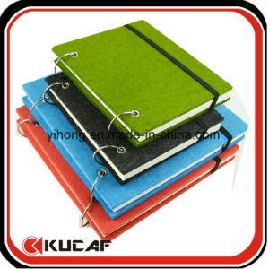 Ring Notebook Felt Cover Sketch Pad Book pictures & photos