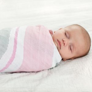 Wholesale Baby Swaddle Blankets 100% Cotton Muslin Swaddle