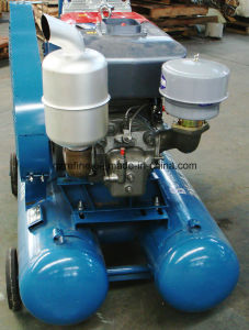 Kaishan Brand 140cfm 5bar Diesel Mining Compressor for Drill Hole 2V-3.5/5 pictures & photos